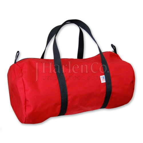 Zip Top Red Canvas Bag