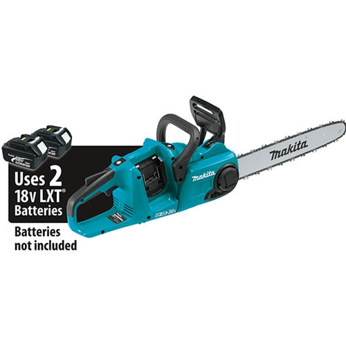 "Makita 18V X2 (36V) LXT® Lithium‑Ion Brushless Cordless 16"" Chain Saw, Tool Only XCU04Z"