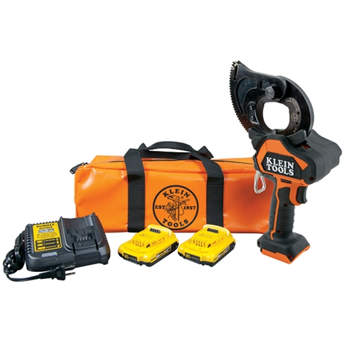 Klein Tools Battery-Operated EHS Closed-Jaw Cable Cutter Kit BAT20GD1